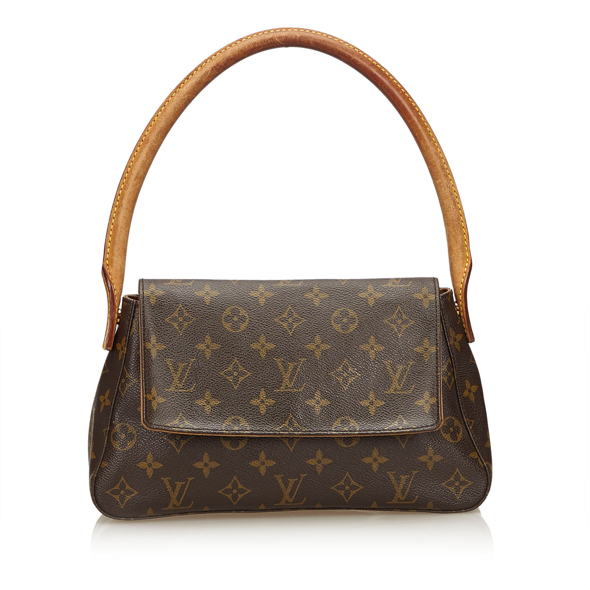 c5c4104d7 Pre-loved Louis Vuitton Brown Monogram Canvas Looping Mini France | eBay