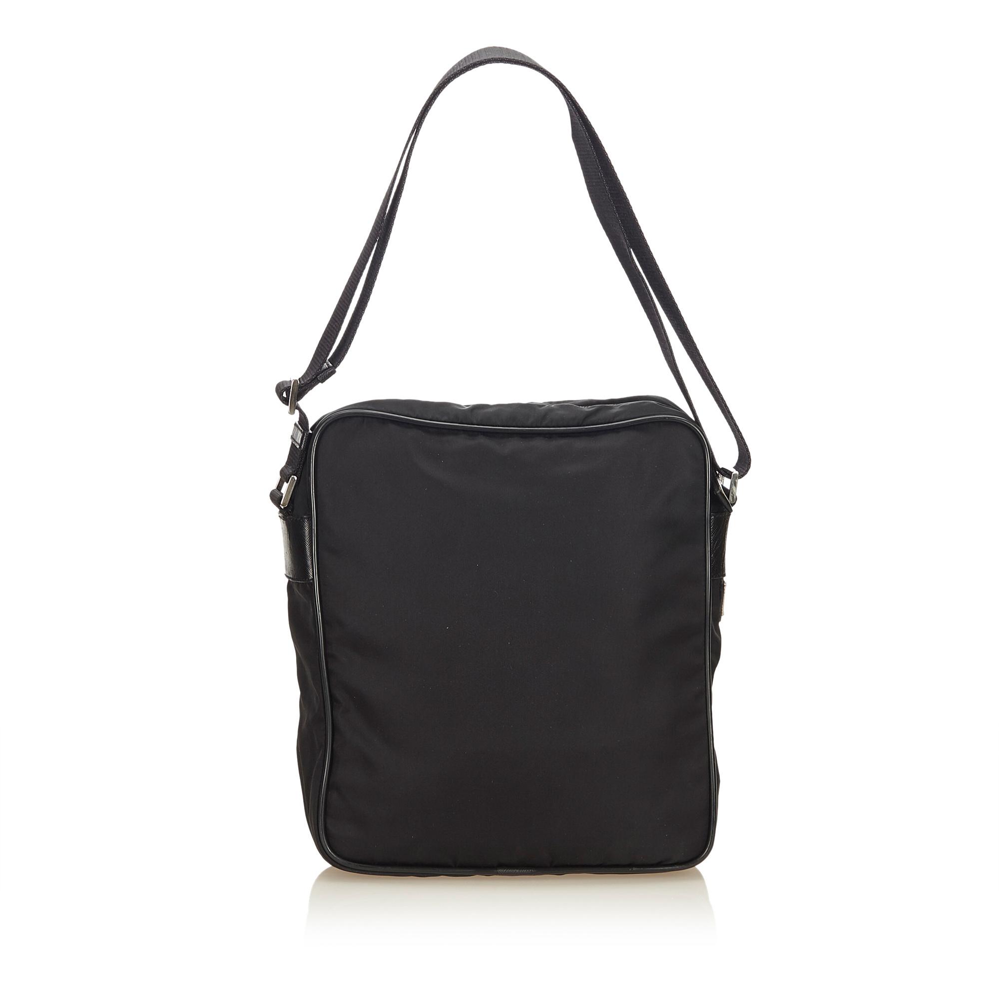 25ce1237b4 Pre-Loved Prada Black Nylon Fabric Crossbody Bag Italy   eBay