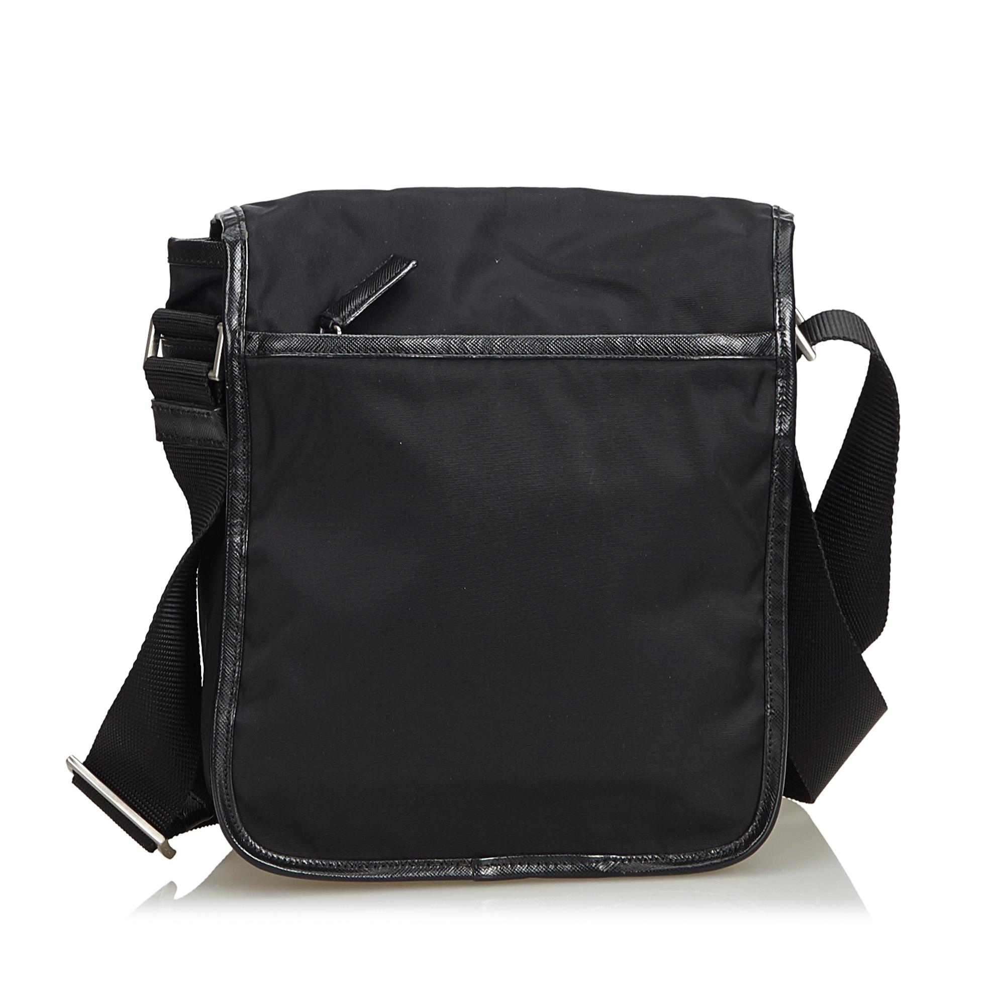 03aa687332 Vintage Prada Black Nylon Fabric Crossbody Bag Italy 3 3 of 12 ...