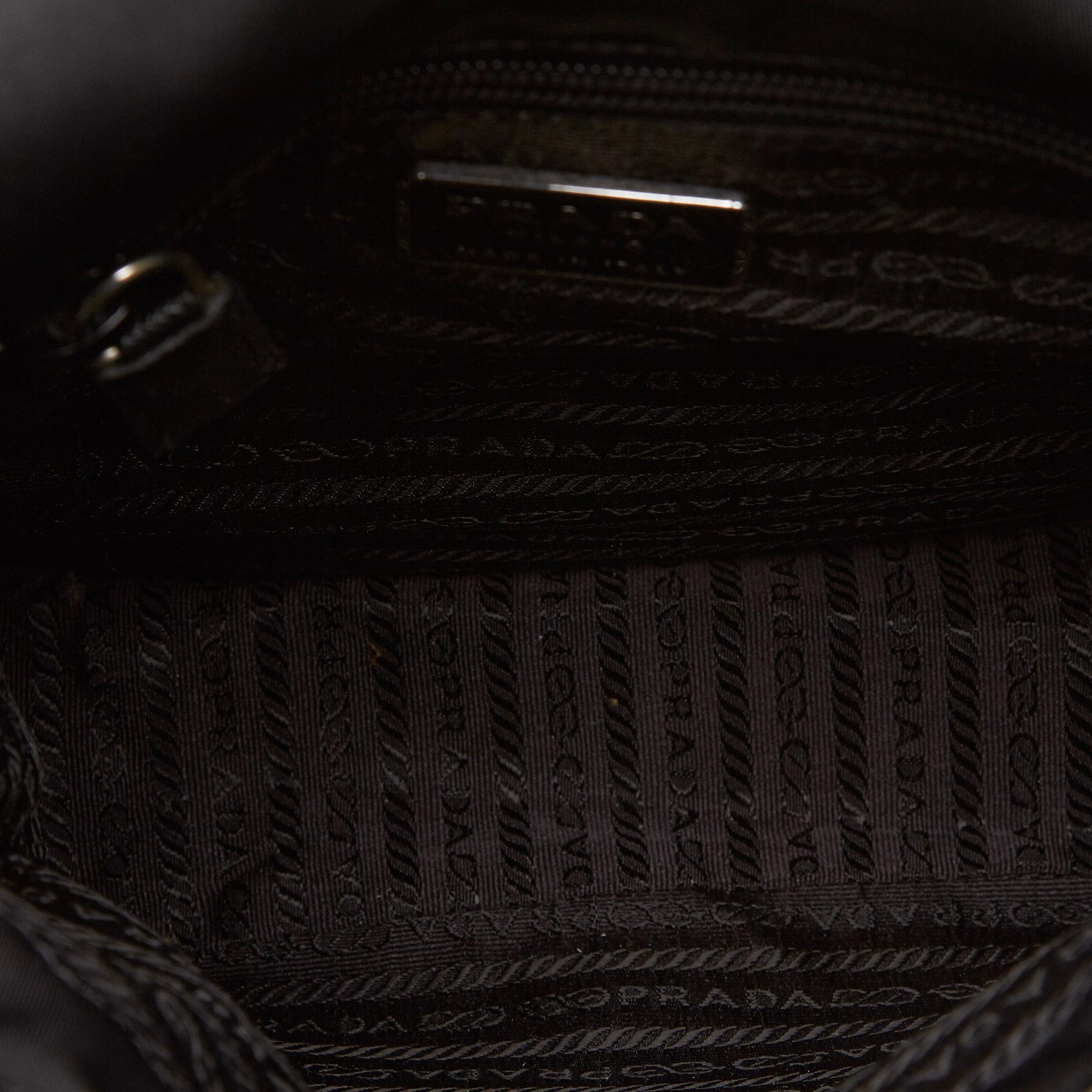 13d01899fe Vintage Prada Black Nylon Fabric Crossbody Bag Italy 5 5 of 12 ...
