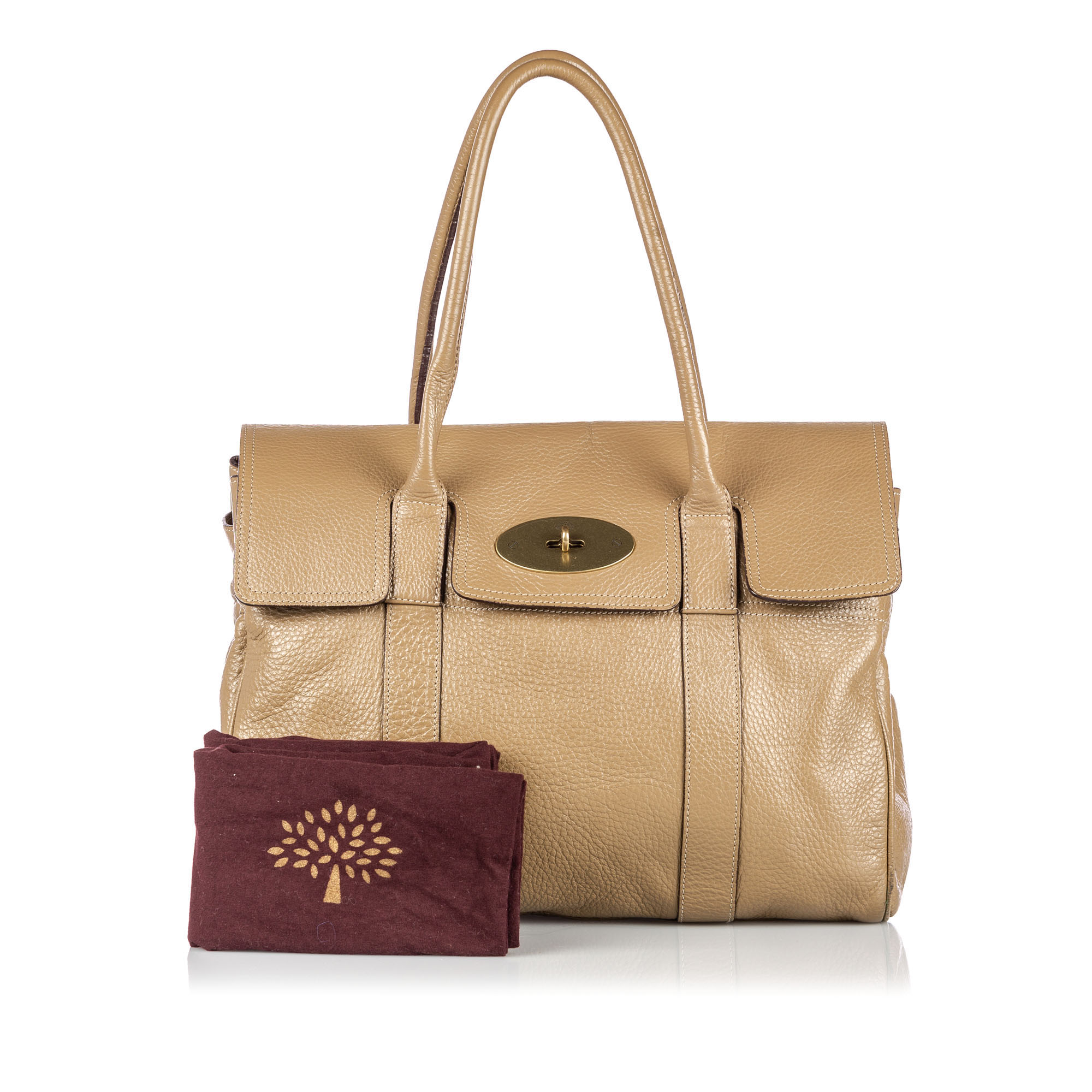 Details About Pre Loved Mulberry Brown Beige Others Leather Bayswater Handbag United Kingdom